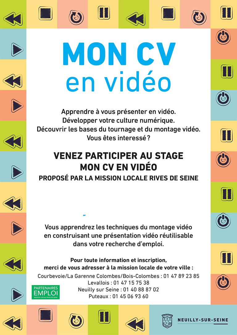 stage cv vid u00e9o du 8 au 10  10  2018  u00e0 neuilly-sur-seine