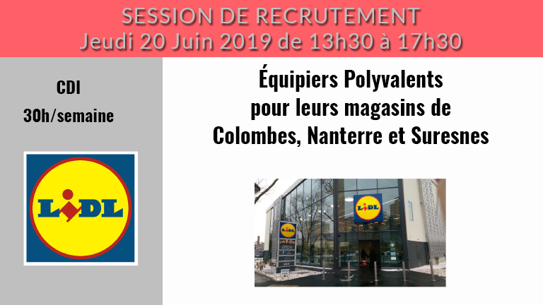 session de recrutement lidl le 20  06  2019  u00e0 courbevoie